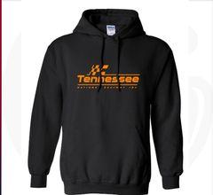 Black and orange Logo Hoodie