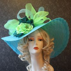 Turquoise Derby Hat
