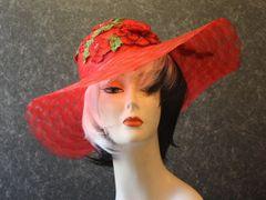 Red Rose Derby Hat