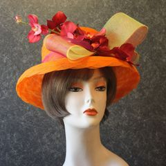 Orange Church Hat