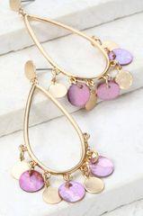 Mia Earrings - Purple
