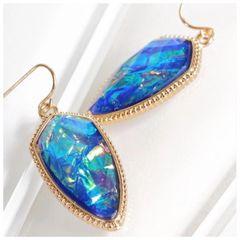 Piper Earrings - Blue