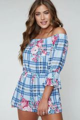 Riley Romper - Blue