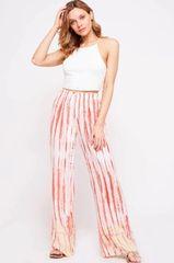 Ella Tie Dye Pants - Peach