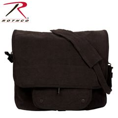 Rothco Vintage Canvas Paratrooper Bag (Black)