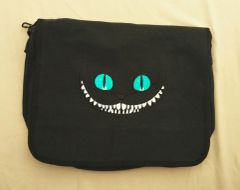 Cheshire Cat Embroidered Messenger Bag