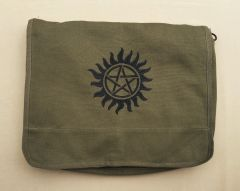 Supernatural Anti-Possession Embroidered Messenger Bag (Green)