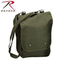 Rothco Canvas Map Case Shoulder Bag (Olive)
