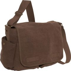Rothco Vintage Unwashed Canvas Messenger Bag (Brown)