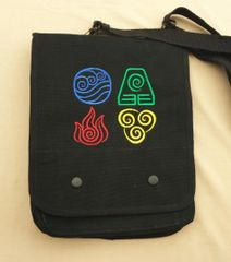 Avatar the Last Airbender Embroidered Tablet Bag