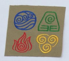 Avatar The Last Air Bender Embroidered Symbol