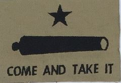 "Gonzales ""Come and Take It"" Embroidered Symbol"