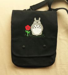 Totoro Embroidered Tablet Bag