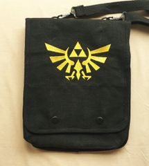 Zelda Tri-Force Embroidered Tablet Bag