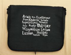 Harry Potter Spells Embroidered Messenger Bag