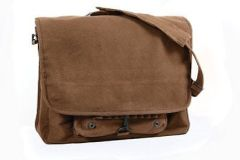 Rothco Vintage Canvas Paratrooper Bag (Brown)