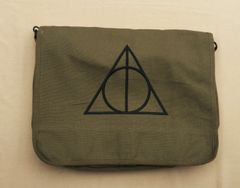 Harry Potter Deathly Hallows Embroidered Messenger Bag