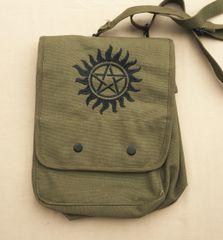 Supernatural Anti-Possession Embroidered Tablet Bag (Green)