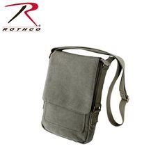 Rothco Vintage Canvas Military Tech Bag (Olive)