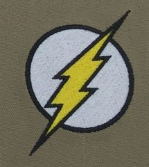 The Flash Embroidered Symbol