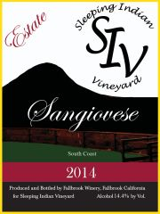 2014 Estate Sangiovese