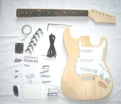 Strat Style Guitar Kit In Alder