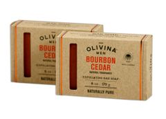 Olivina Men Bourbon Cedar Bar Soap - 2 6 oz Bars