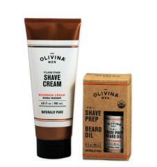 Olivina Men Shave Cream and Beard Oil