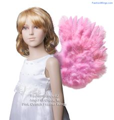 Angel of Grace, Medium, Pink Ostrich feather wings