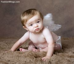 Angel of Protection, Small, White feather wings