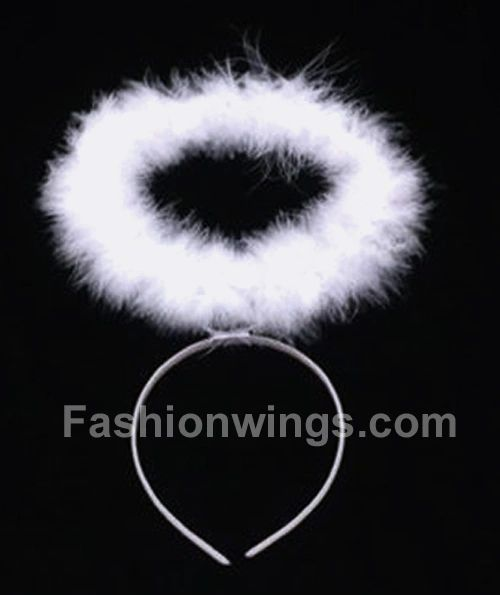 White Marabou Headband Halo