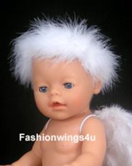 White Marabou Elastic Halo for Babies and Toddlers