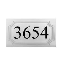 "MEDALLION PRE-CAST STONE ADDRESS BLOCK 9"" x 16"""