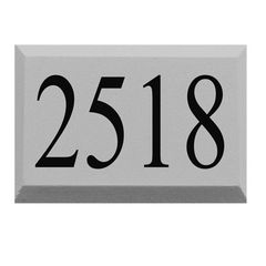 "CHAMFERED PRE-CAST STONE SIGN, 1 LINE, 12"" x 18"""