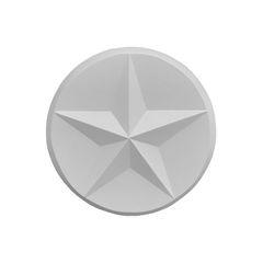 "Round Texas Star Cast Stone Wall Medallion. Outdoor Fireplace Concrete Plaque. 14"" Diameter"