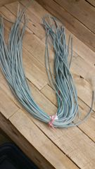 4 ft shoe lace 1/8 wide light blue