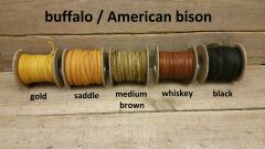 american bison / buffalo soft and supple leathr lace 1/4 wide 25 ft long F-10