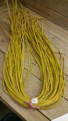 4 ft shoe lace 1/8 wide gold