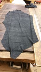 Charcoal Colored Finished Suede Leather-F-32