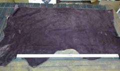 Buffalo Splits/Suede Hides/Mossasin Leather-Dark Brown Z2-506