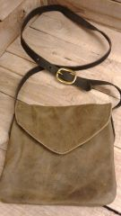 American made Leather Handmade Bag , small Messenger Bag-H-2