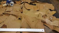 leather scraps in a 3-8 oz. weight (nice big piece's) Tan B-4