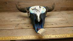 Rustic Western Style Bull Buffalo Skull / ( spirit wolf ) PICK #10 /