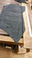 Charcoal Colored Finished Suede Leather-F-31