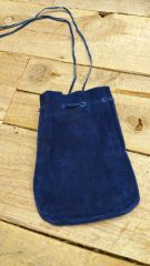 Leather pouch suede leather / C-10-blue or black Suede