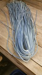 4 ft shoe lace 1/8 wide faded blue