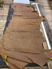 Cow hide chrome tanned leather