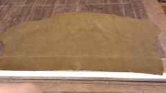 Army Green Colored Cow Hide Leather-F-56