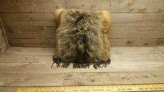 red fox and coyote fur pillow V1-6