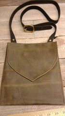 American made Leather Handmade Bag , Medium Messenger Bag-H-3